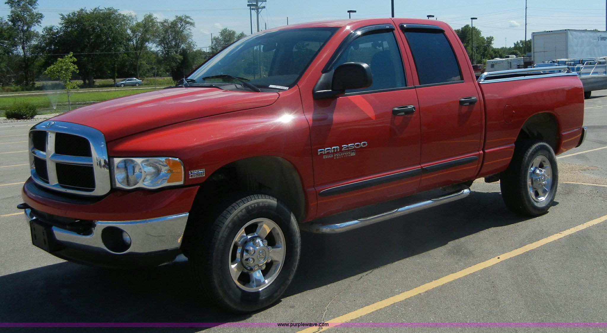 2005 Dodge Ram 2500 Slt Big Horn Edition Quad Cab Pickup Tru Hemi Full Size In New Window