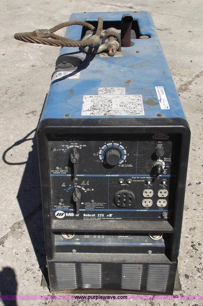 Miller Bobcat 225 Gas Powered Welder Generator Item