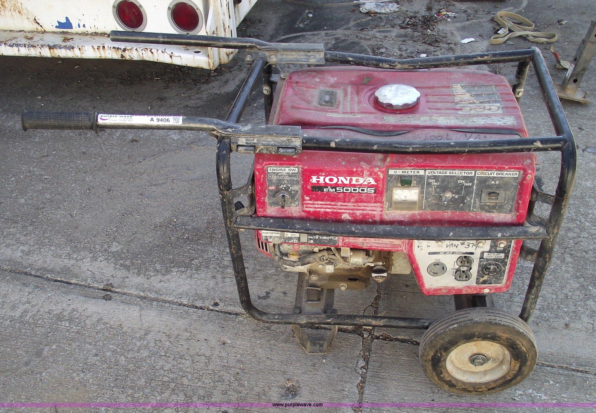 Honda EM5000S generator Item A9406