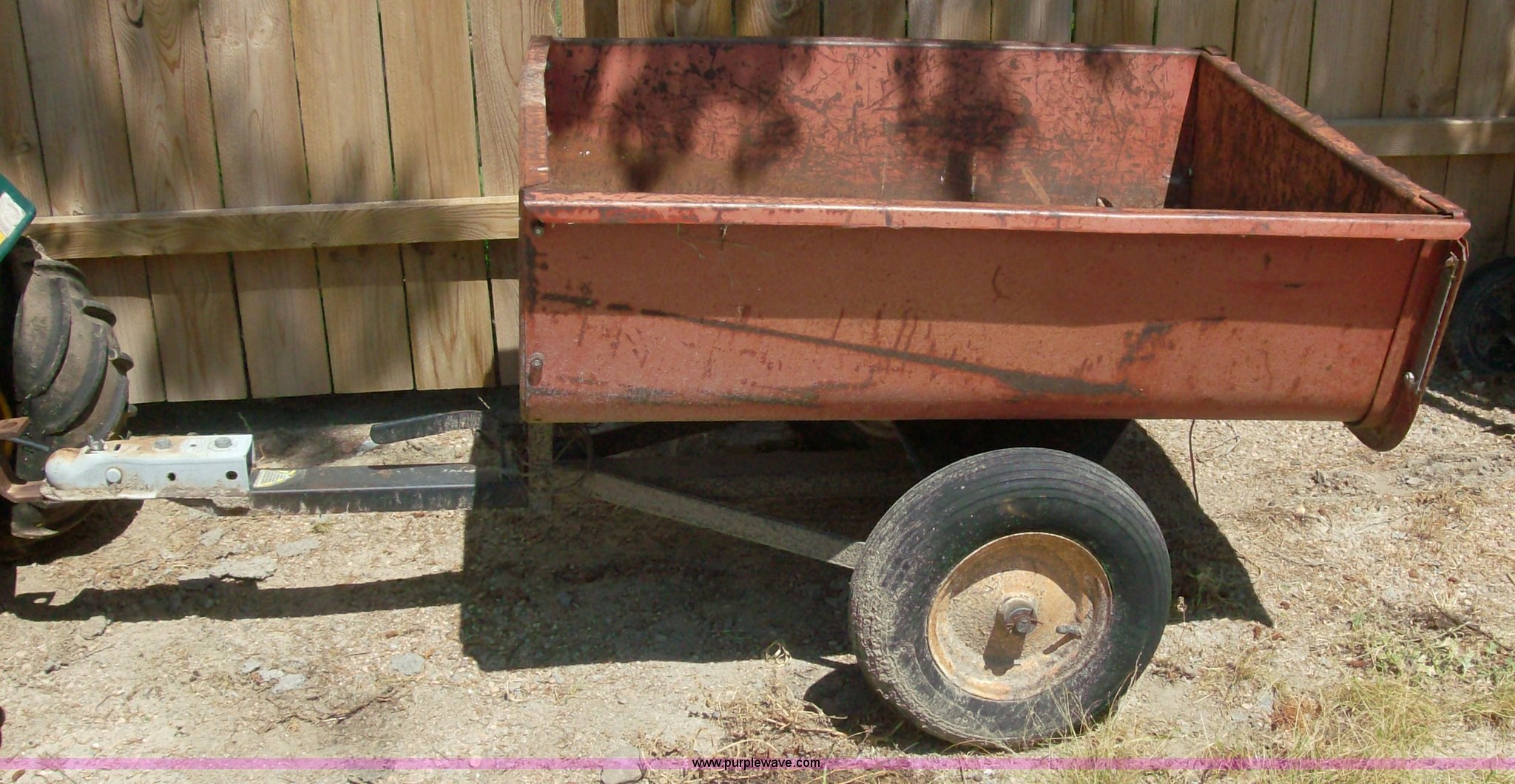 Two wheel lawn tender dump cart | Item A1280 | SOLD! Septemb...