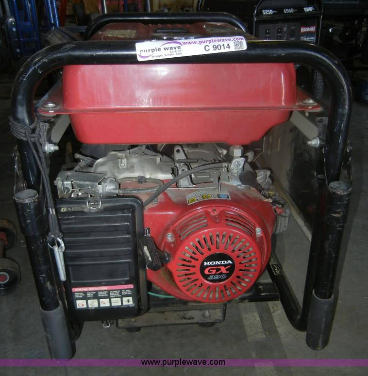 ... C9014 Image For Item C9014 Honda BlackMax 7,000 Watt Portable Generator