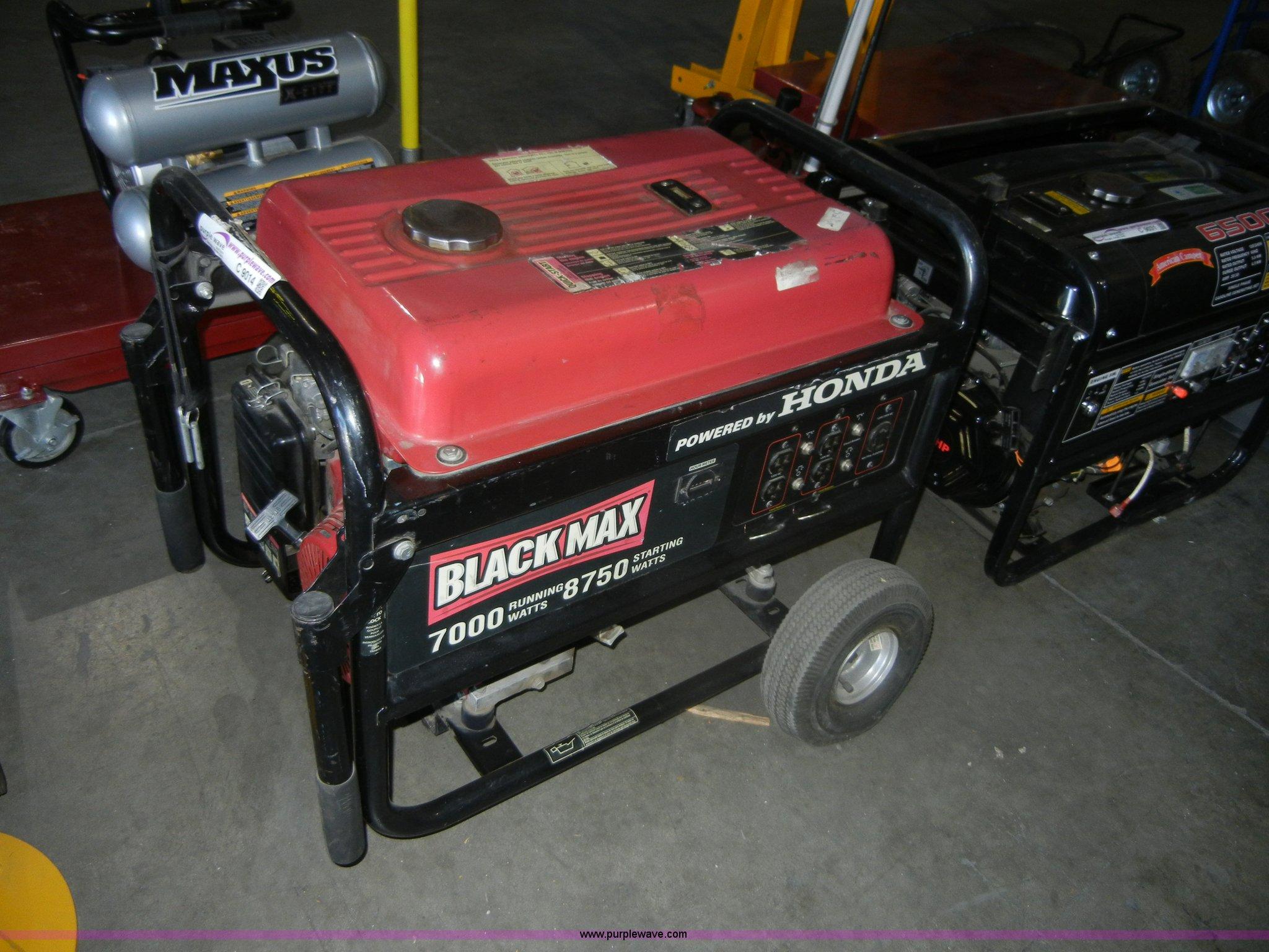 C9014 Image For Item C9014 Honda BlackMax 7,000 Watt Portable Generator