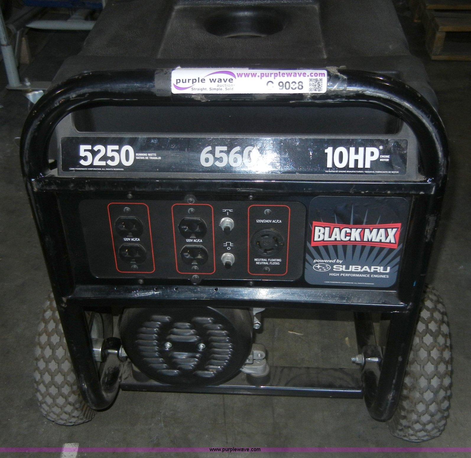 Black Max Pm0435255 10hp Generator Item C9038 10 4 2011