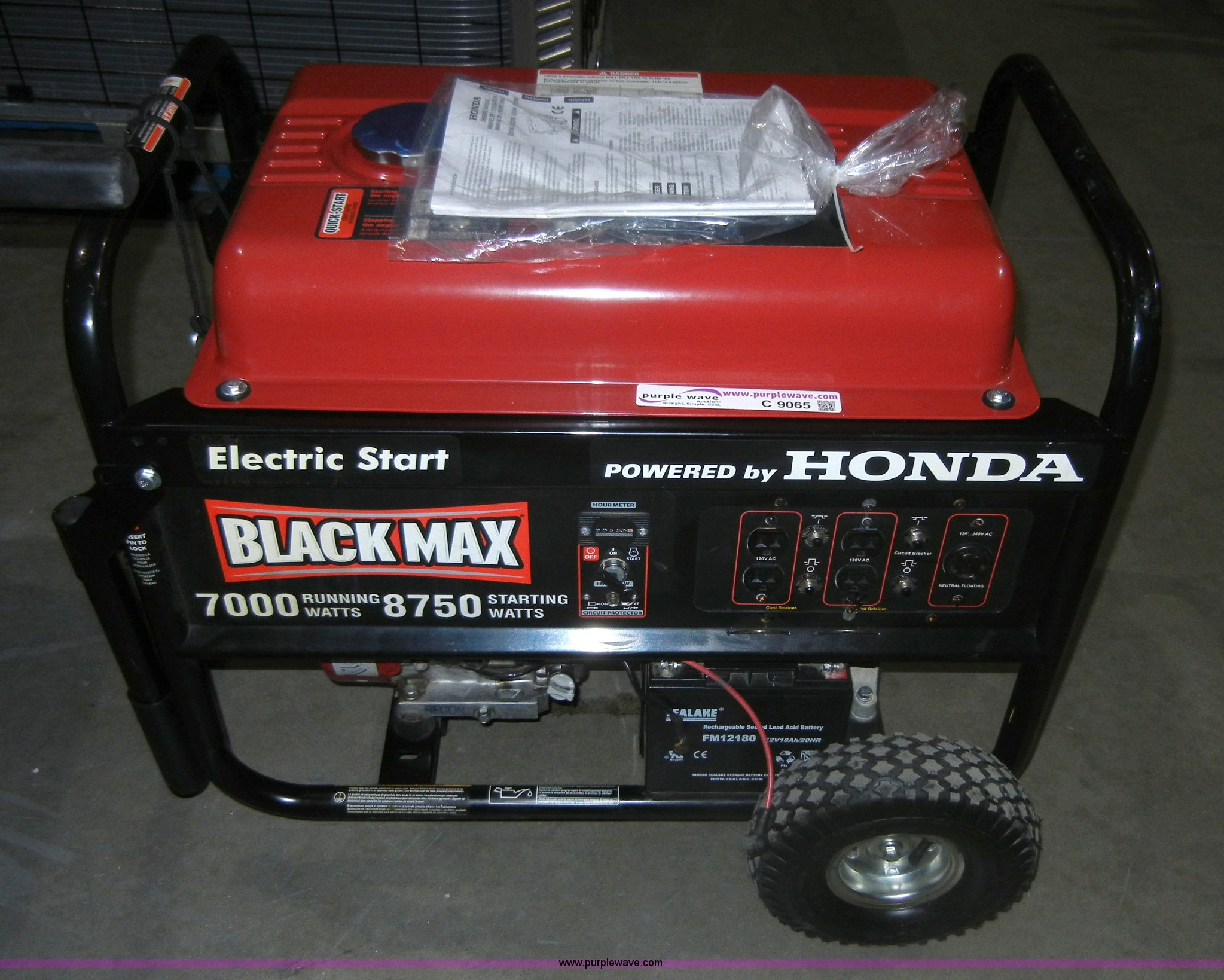 Good Black Max 7 000 Watt Generator Item C9065 Sold October Rh Purplewave Com  Honda Black Max 7000 Generator Black Max 3650 Watt Generator