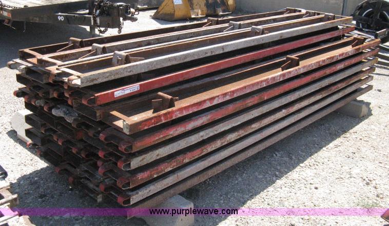 38) steel concrete form boards | Item B9557 | SOLD! October
