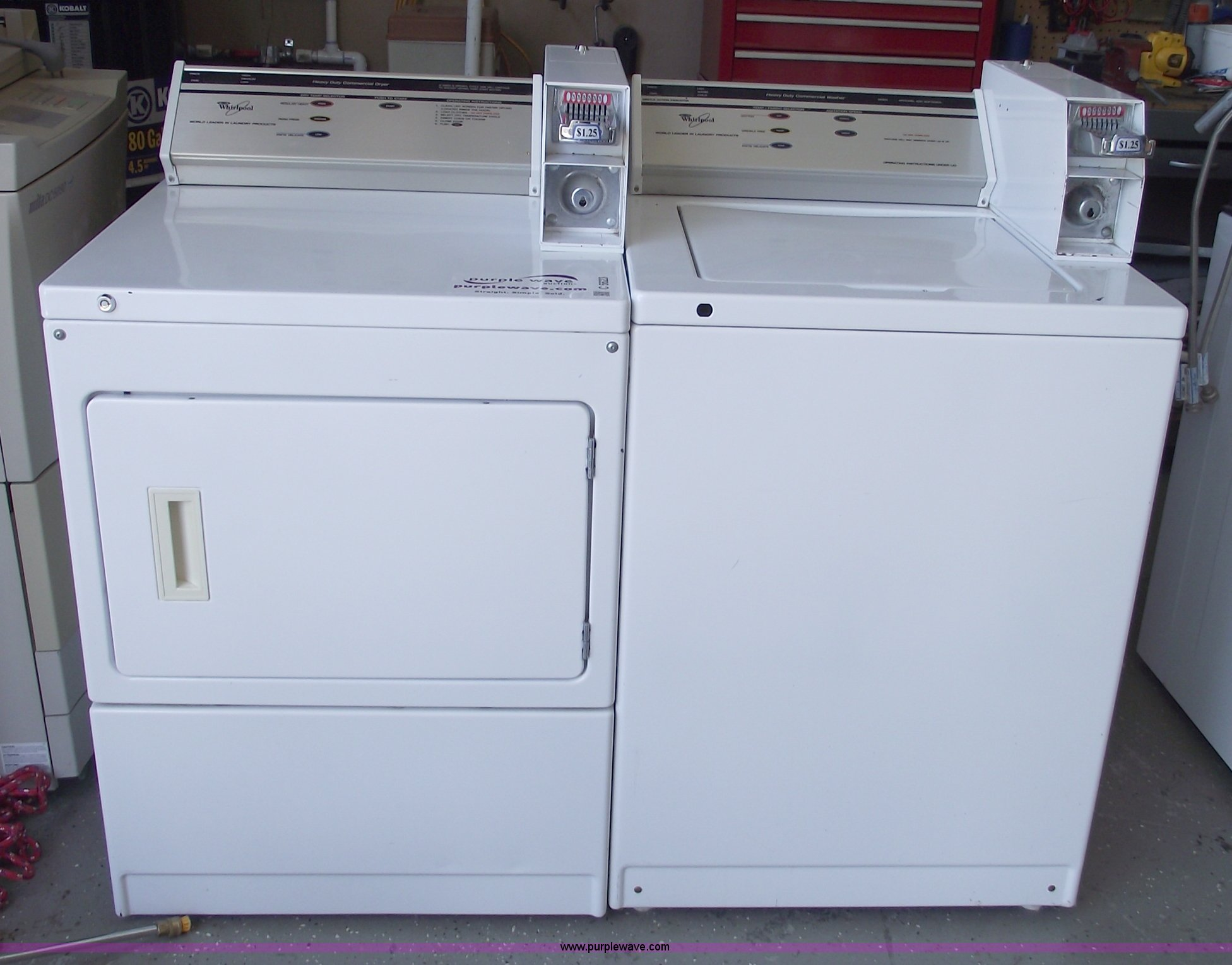 Whirlpool Commercial Coin Operated Washer And Dryer Item