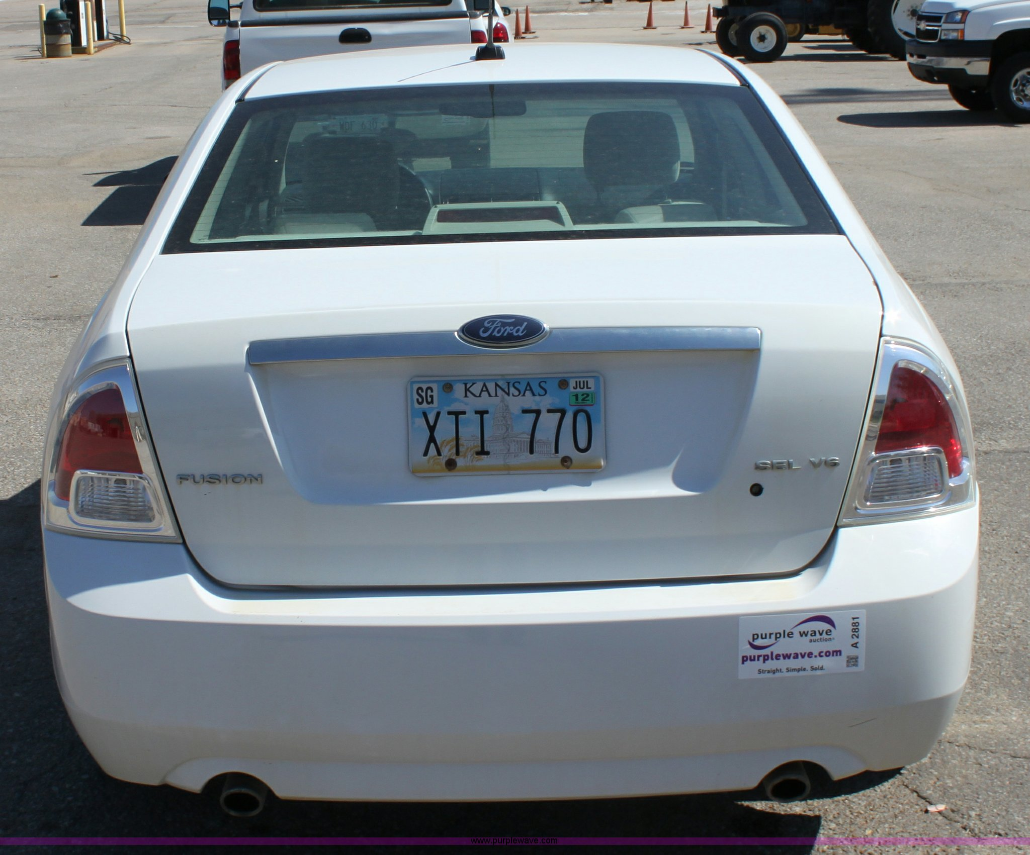 2007 Ford Fusion Sel Item A2881 Sold October 25 Kansas Lights Full Size In New Window