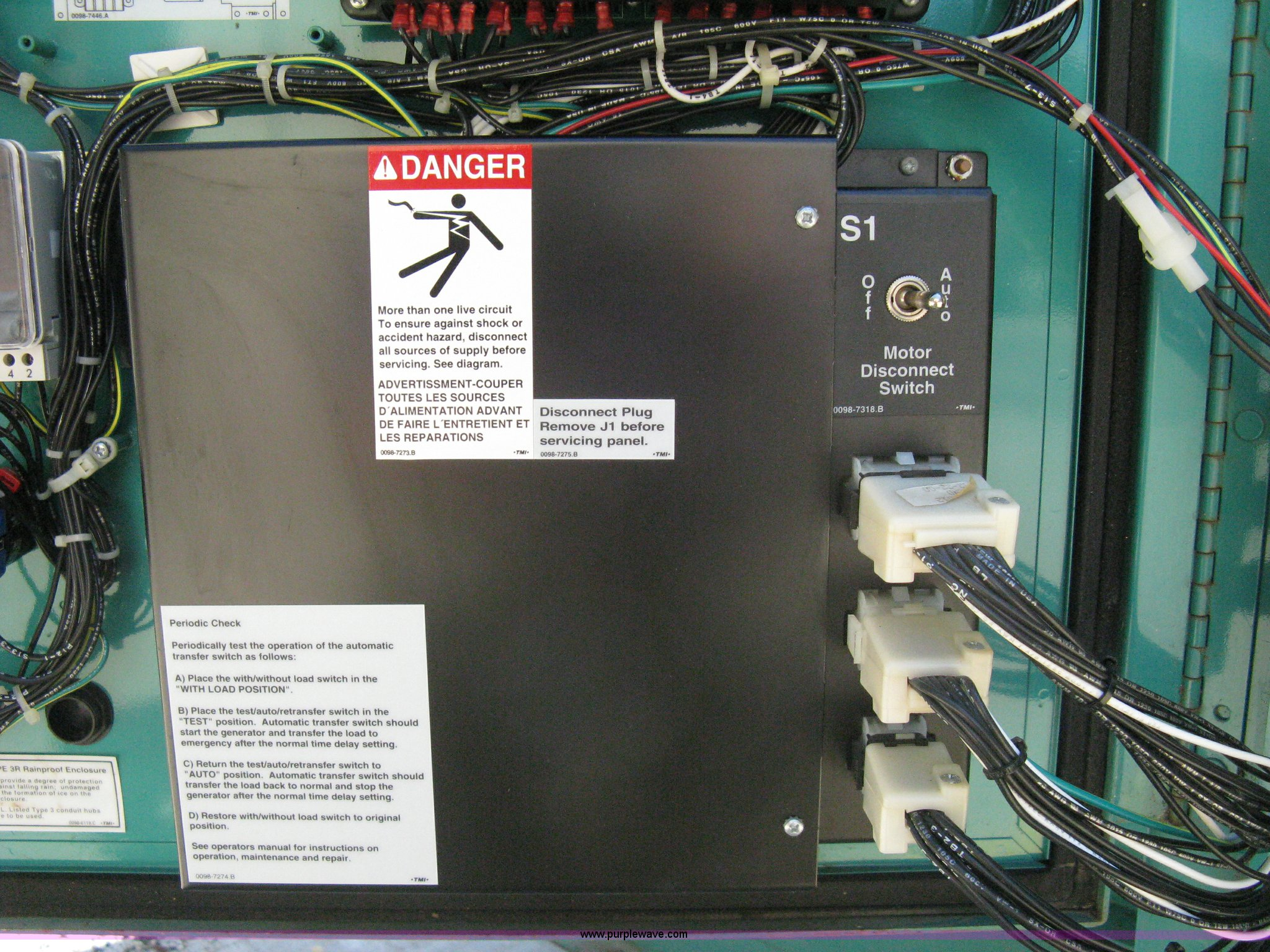 1999 Onan Genset Generator Item A4381 Sold October 27 C Transfer Switch Wiring On Position Full Size In New Window