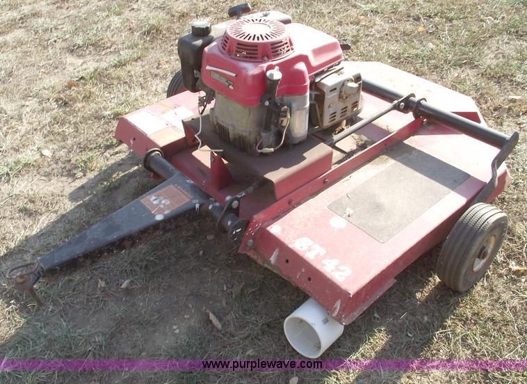 Bush Hog Gt42 Pull Behind Mower In Centerview Mo Item C5663 Sold Purple Wave