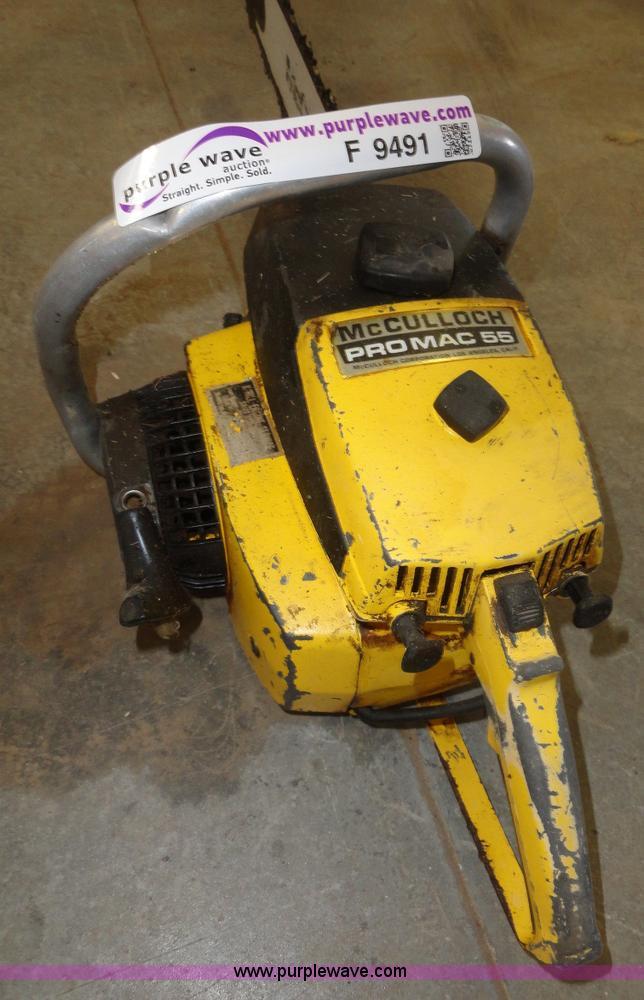 McCulloch Promac 55 chainsaw | Item F9491 | SOLD! November 2