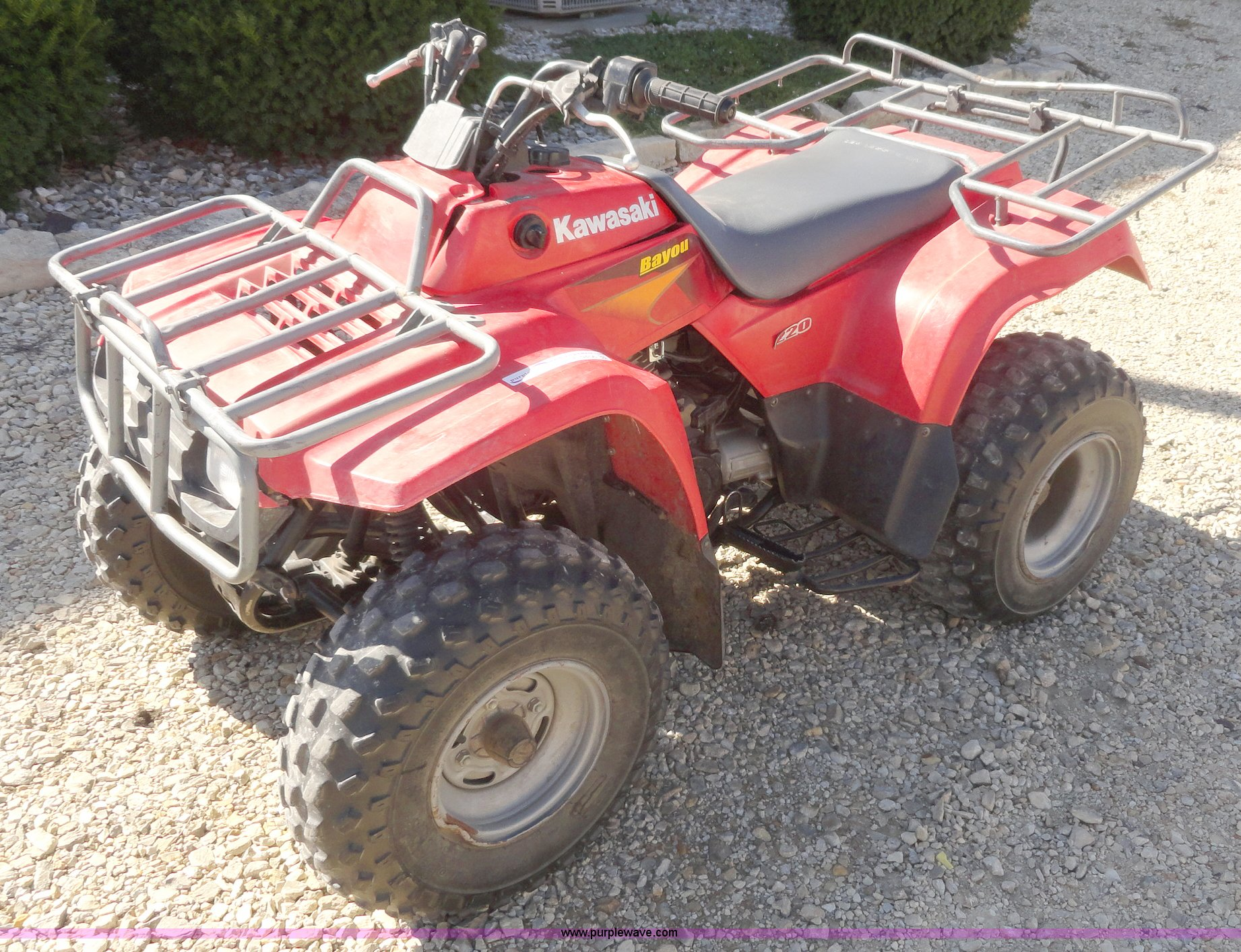 2000 Kawasaki Bayou 220 ATV | Item F9456 | SOLD! November 2 ...