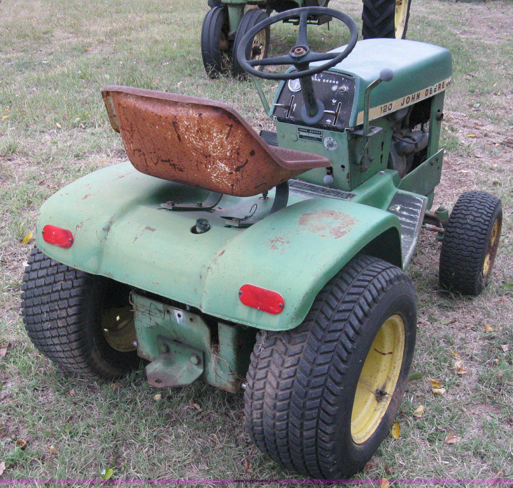 john deere 120 garden tractor item a6003 sold november