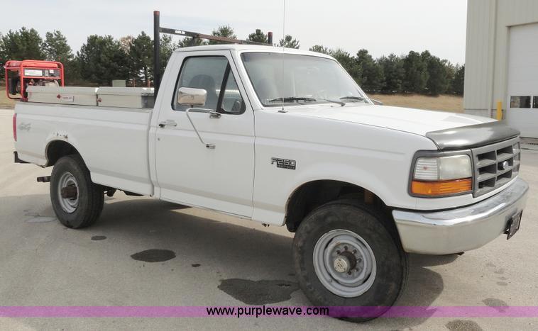 1997 Ford F250 Xl Heavy Duty Pickup Truck Item A3276 Sol