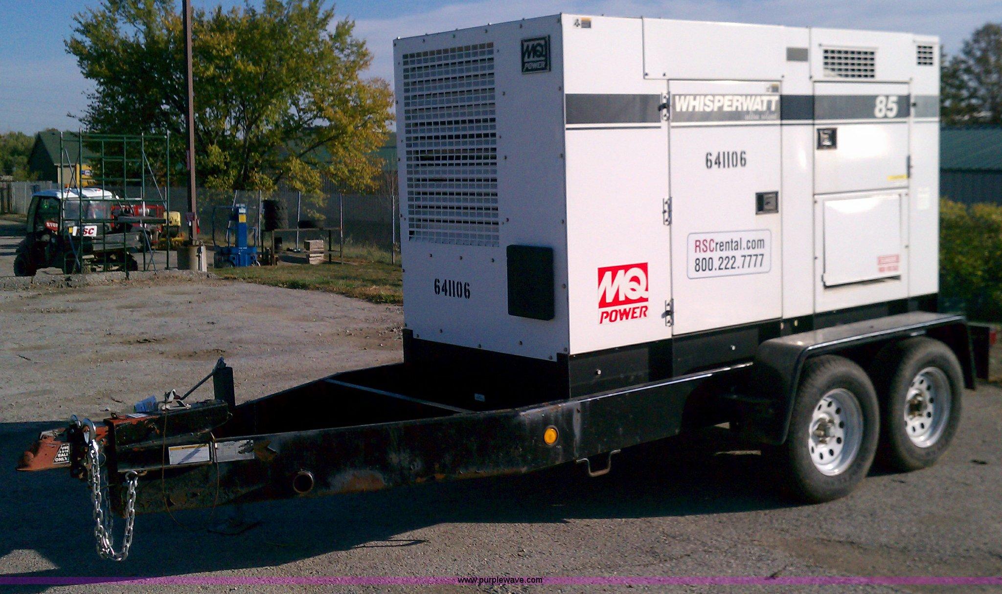 Multiquip Whisperwatt 85 towable generator | Item C5690 | SO