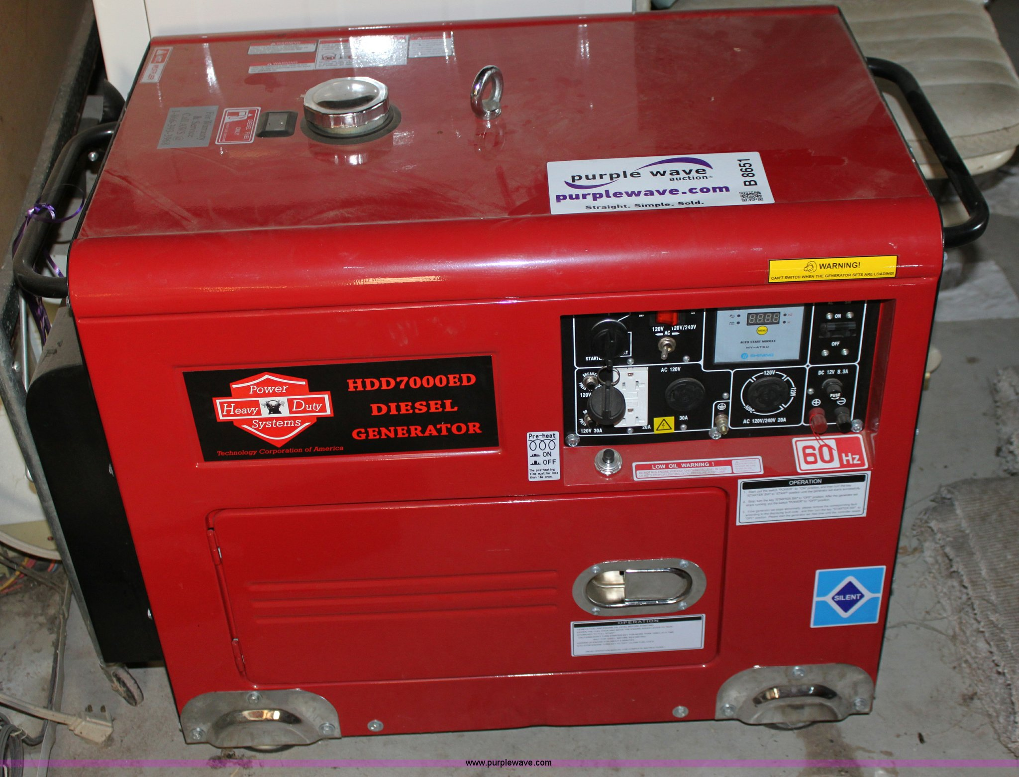 Heavy Duty Power Systems HDD7000ED sel generator