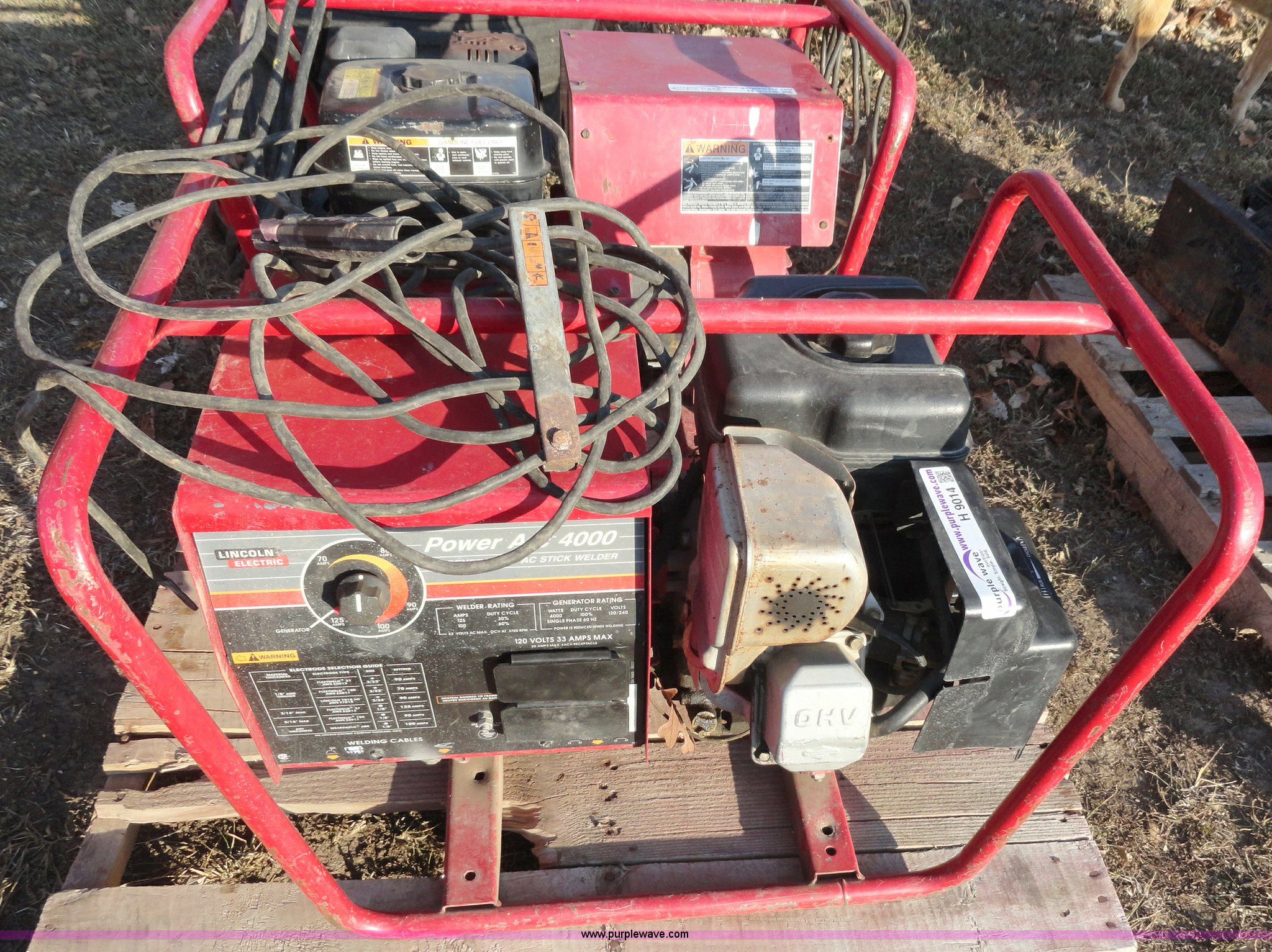 Lincoln Welders For Sale >> Lincoln Electric Power Arc 4000 welder/generator | Item ...