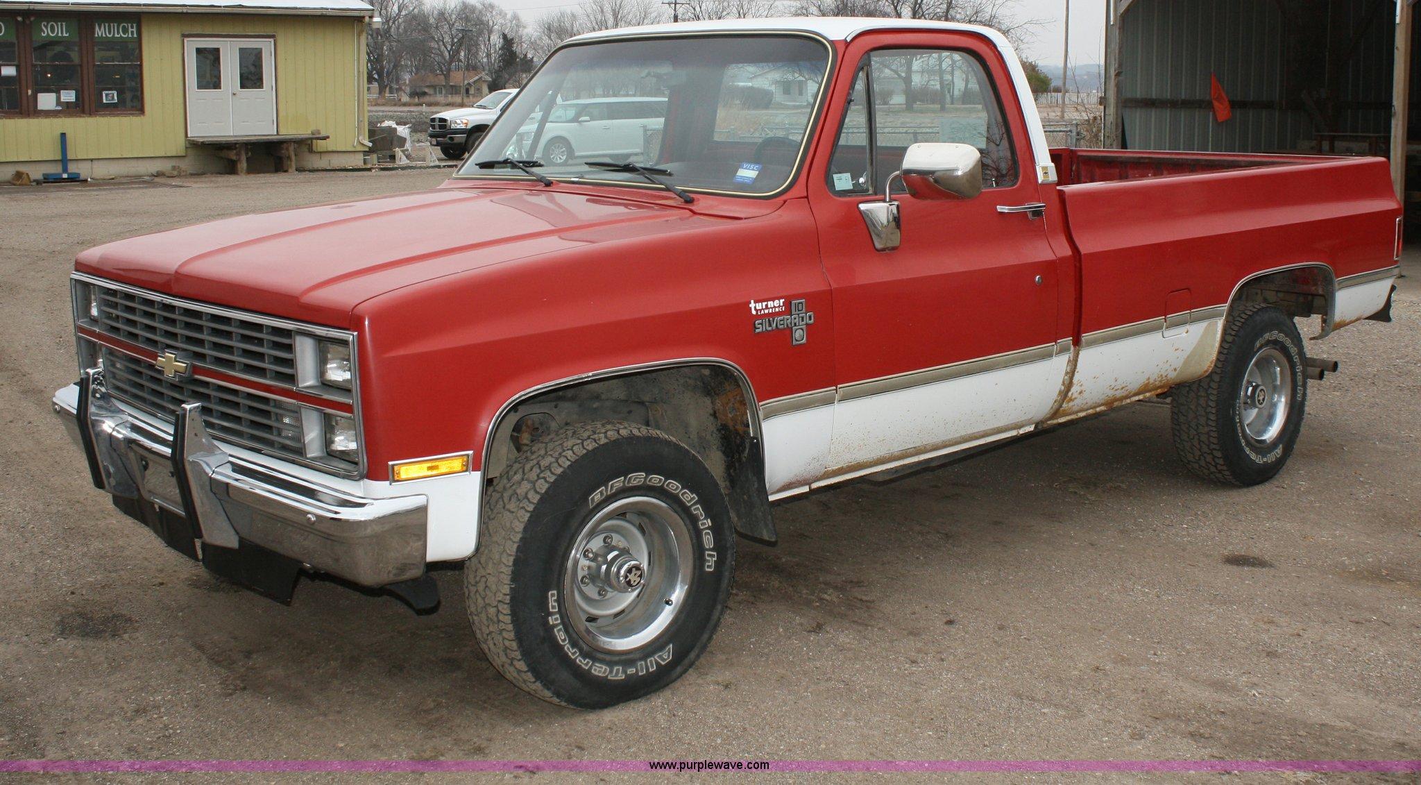 1984 chevrolet k10 silverado pickup truck item a6564 sol. Black Bedroom Furniture Sets. Home Design Ideas