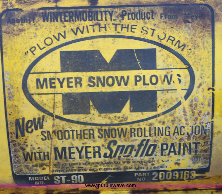 b8748 image for item b8748 meyer st90 snow plow