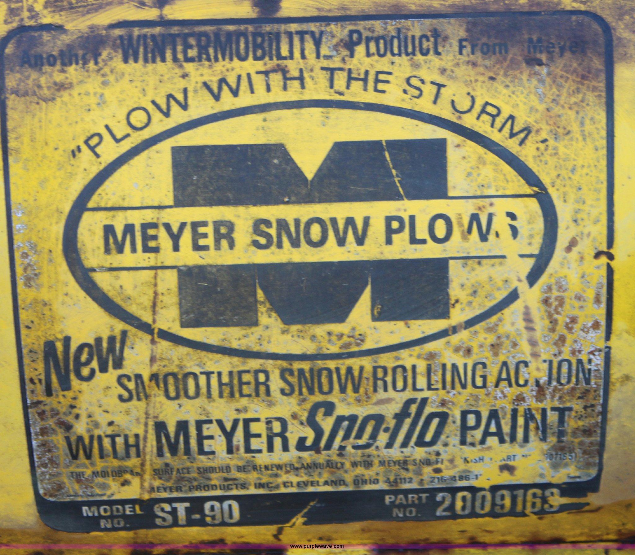 Meyer Model St 90 Wiring Diagram St90 Snow Plow Full Size In New Window