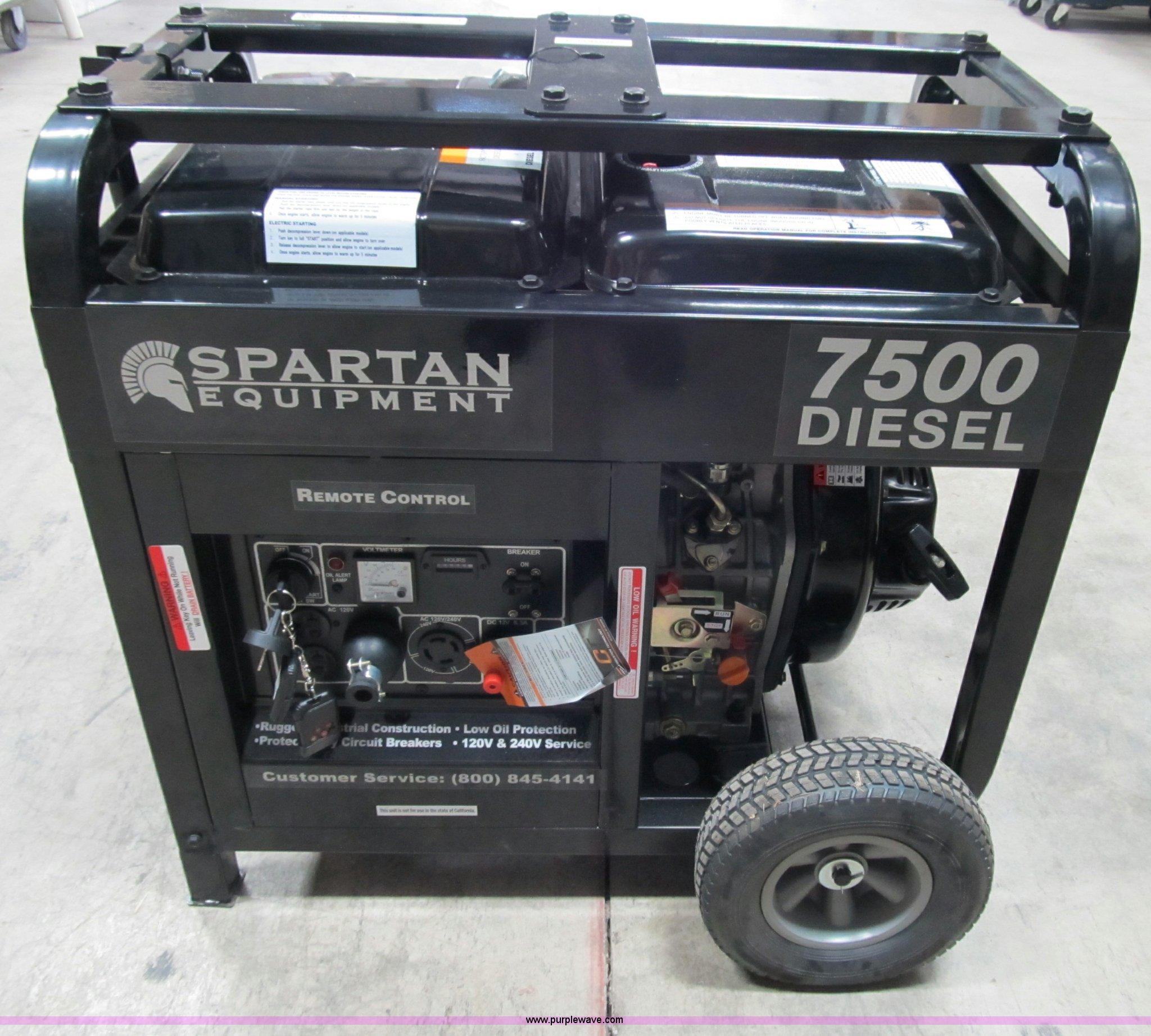 Spartan 7500D industrial generator Item D9259