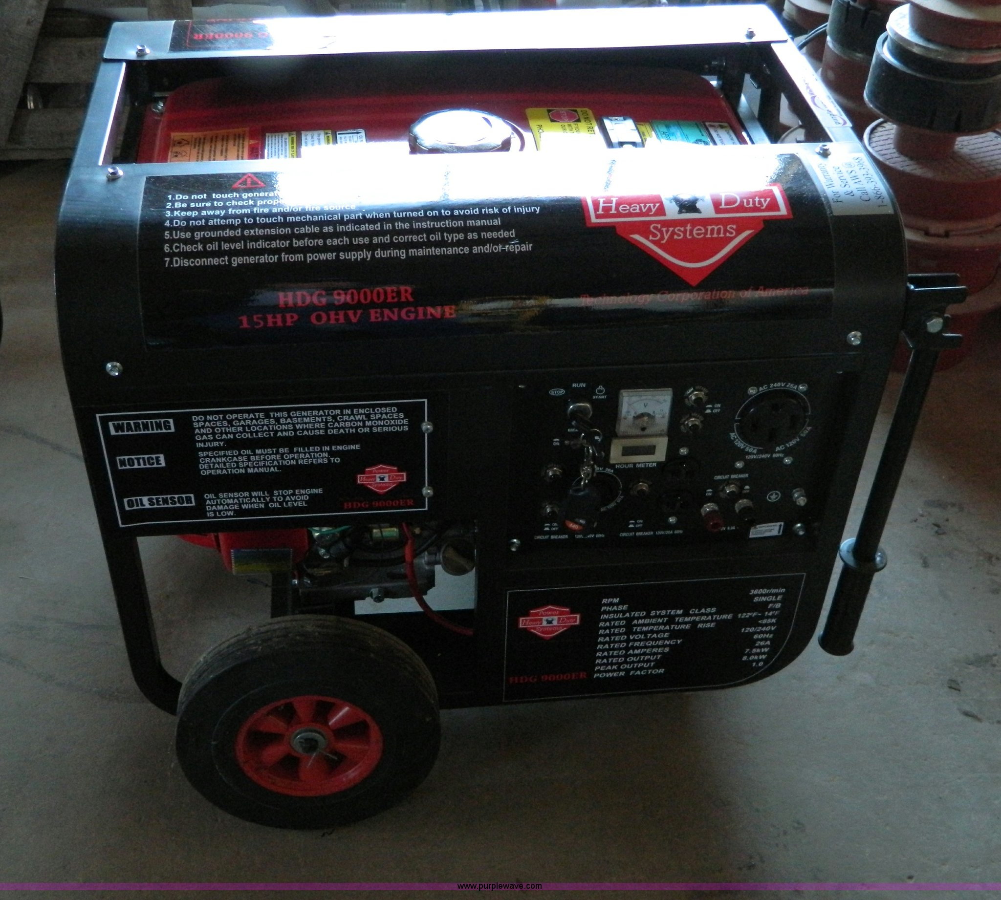 HD Power Systems HDG 9000 E gas generator Item E9335