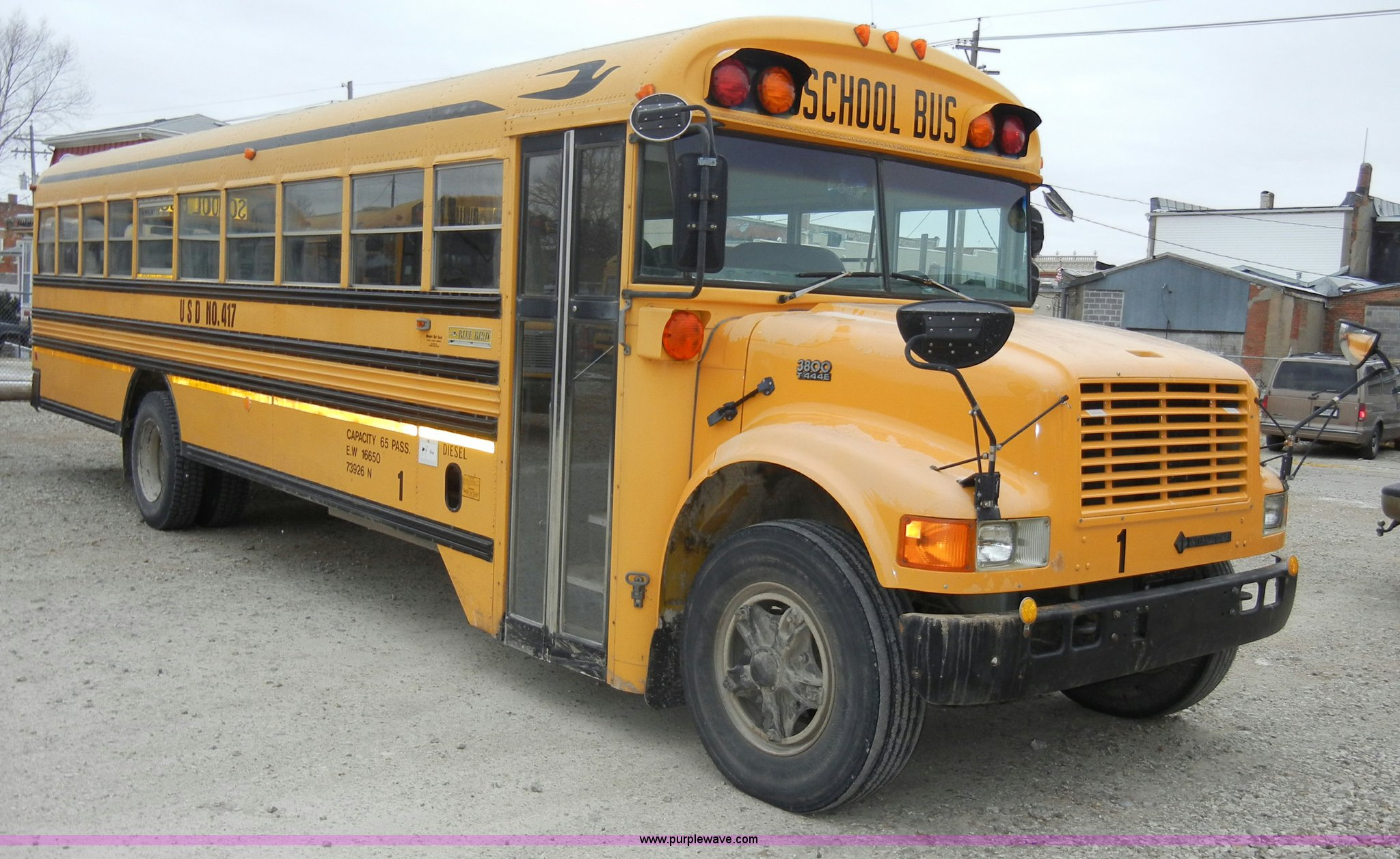 ... 1995 International Bluebird 3800 school bus Full size in new window ...