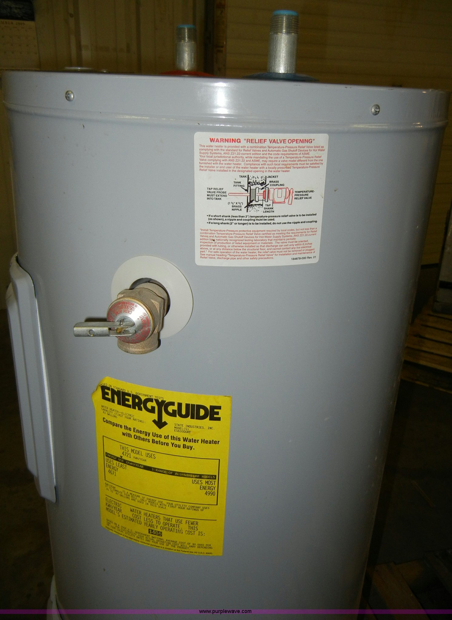 State Select hot water heater Item J9306