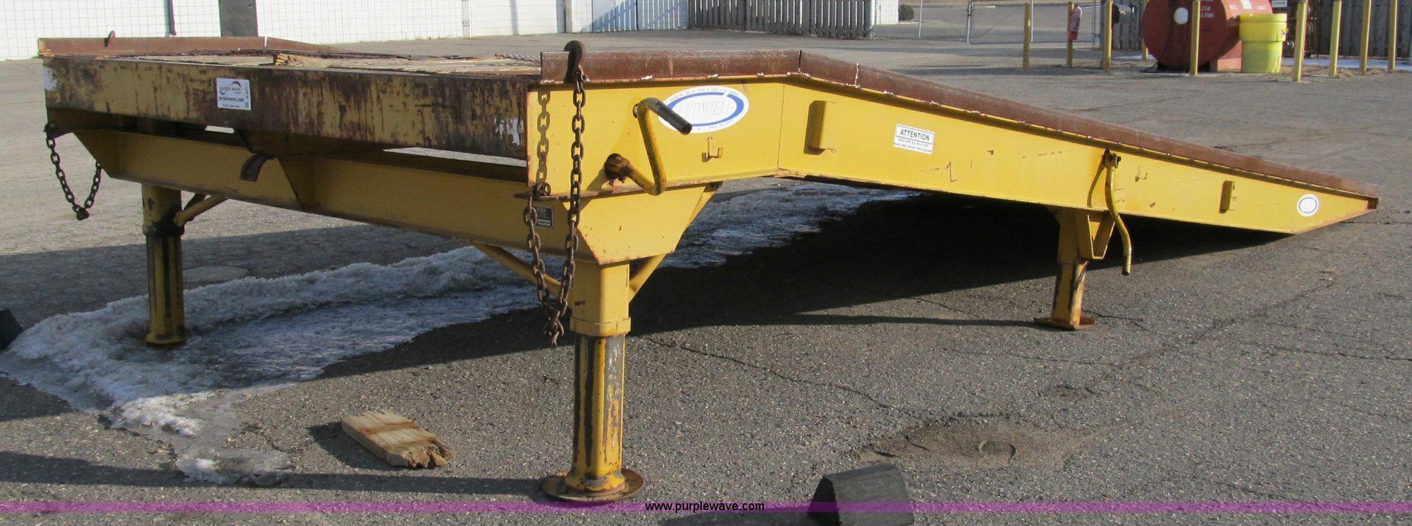 Ledwell 25 Portable Loading Dock Ramp Item A8071 Sold