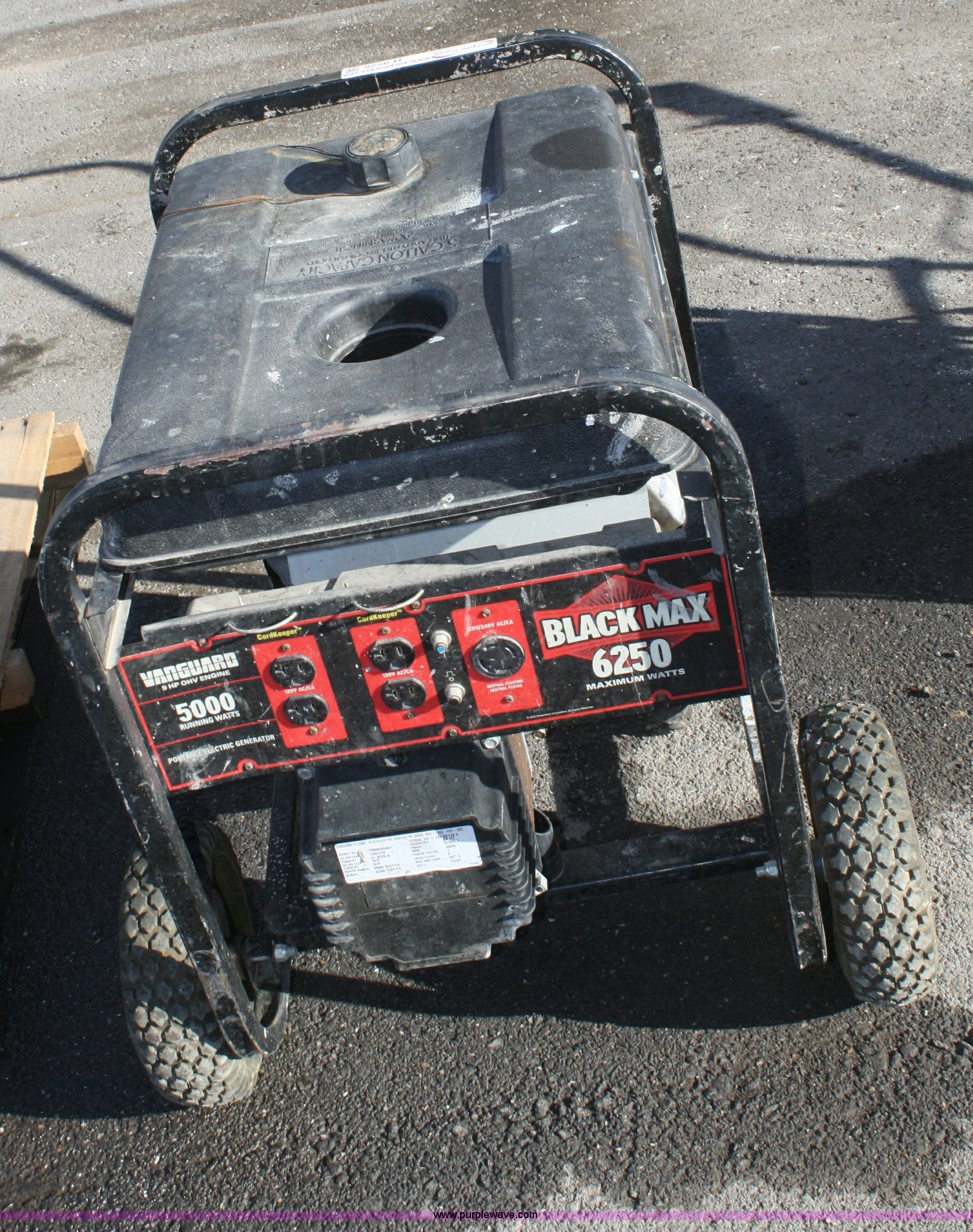 Blackmax 6250 generator | Item H9525 | SOLD! February 28 Con