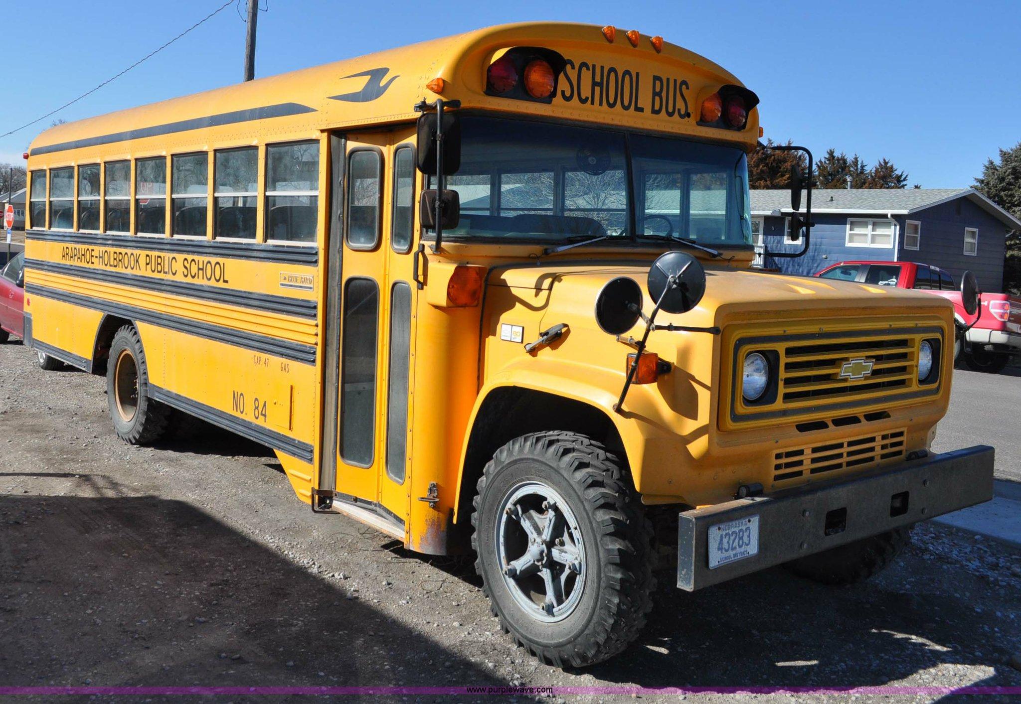 A5844 image for item A5844 1984 Chevrolet Bluebird C60 school bus