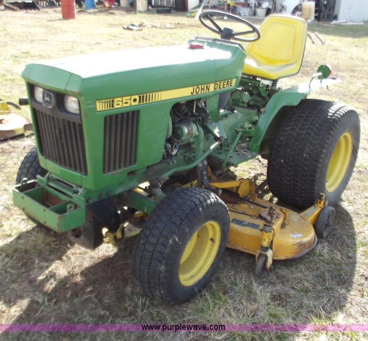 diesel garden tractor. E9629 Image For Item John Deere 650 Lawn And Garden Tractor Diesel D