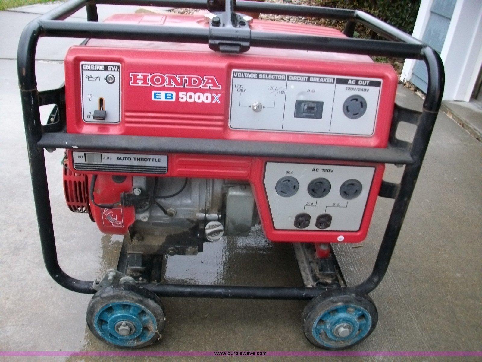 Honda EB5000X generator Item B1041