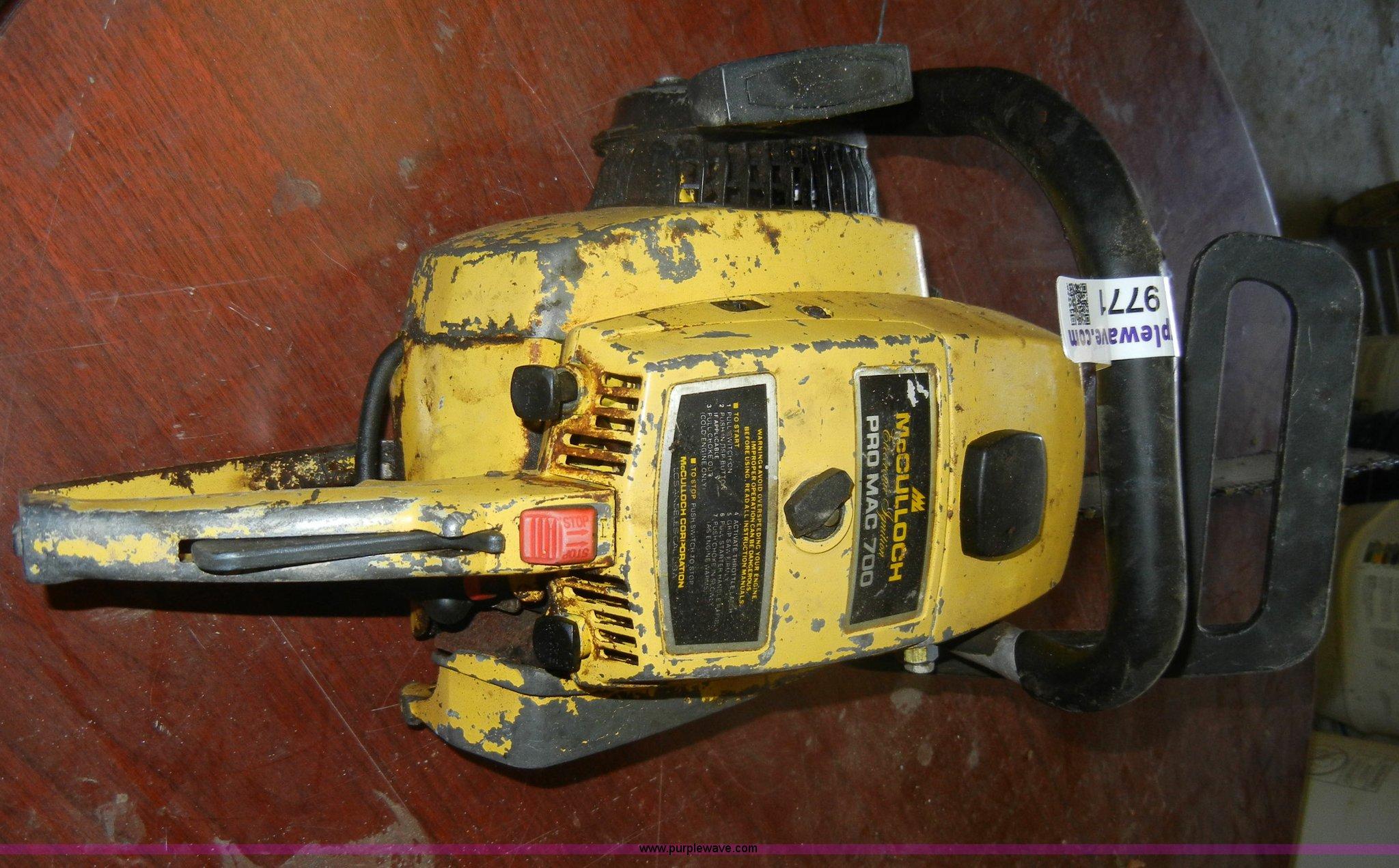 McCulloch Pro Mac 700 chainsaw | Item U9771 | SOLD! March 22
