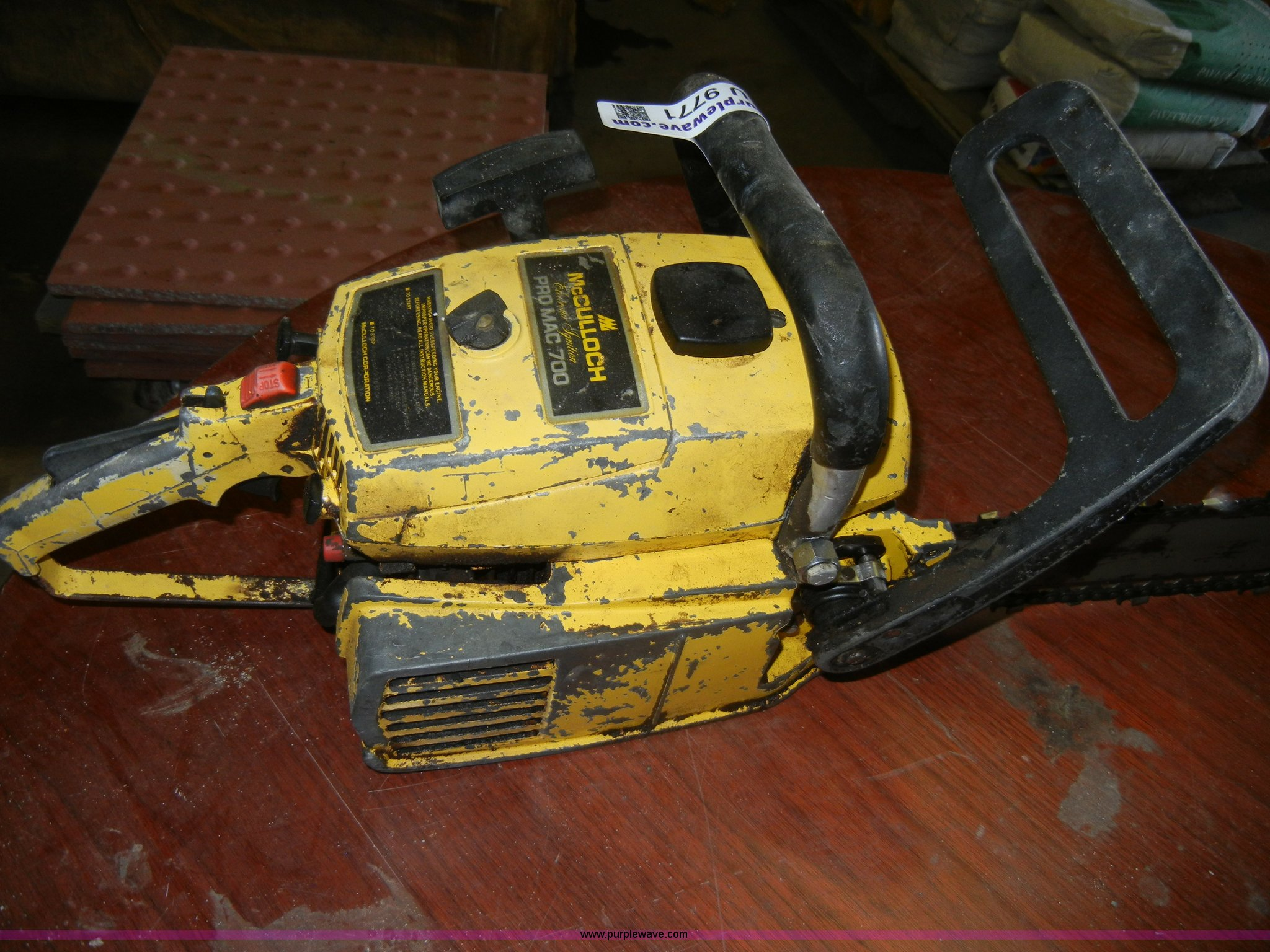 ... McCulloch Pro Mac 700 chainsaw Full size in new window ...
