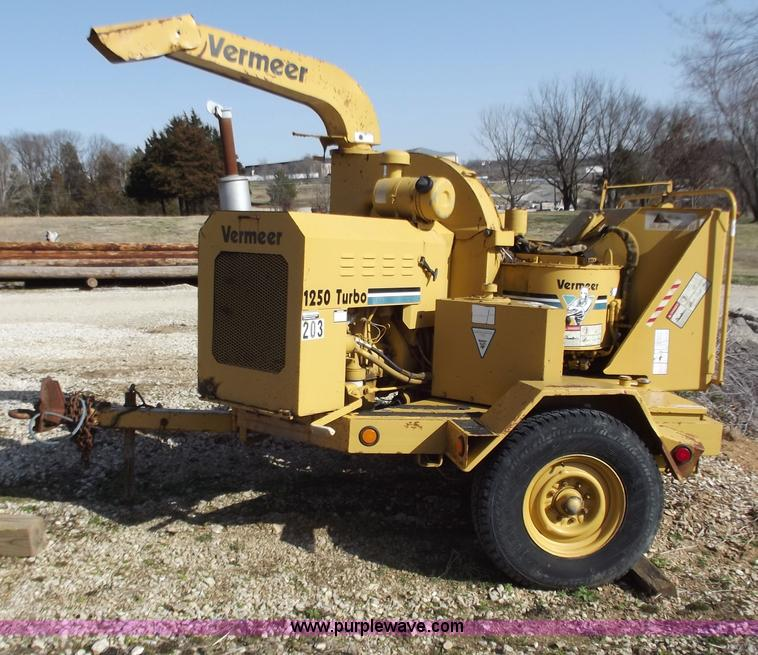 Vermeer 1250 Turbo wood chipper | Item D3616 | SOLD! March 2