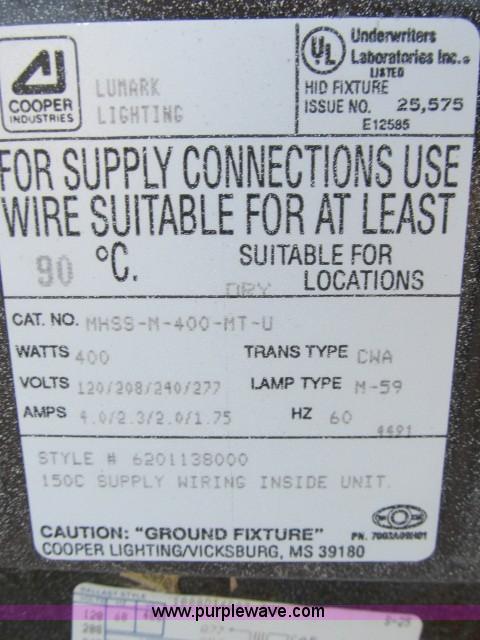 ... D9328 image for item D9328 (6) Cooper industrial lighting fixtures & 6) Cooper industrial lighting fixtures | Item D9328 | SOLD!...