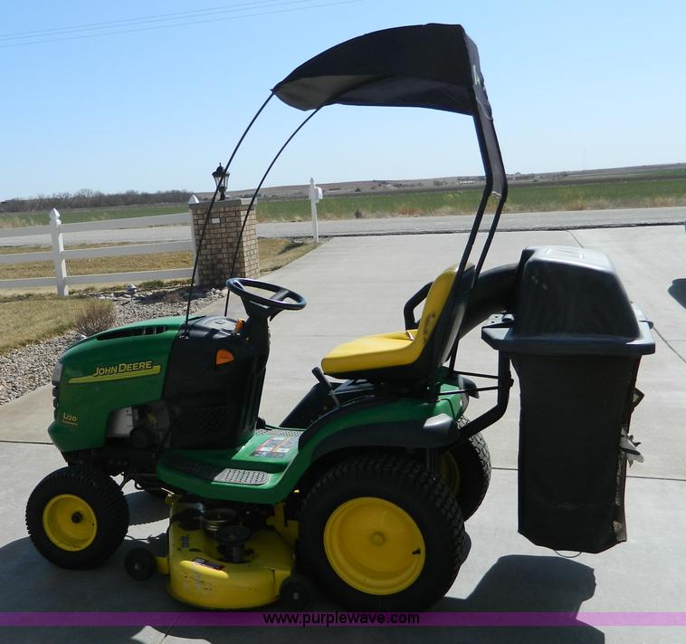 E9453 image for item E9453 John Deere L120 lawn mower & John Deere L120 lawn mower | Item E9453 | SOLD! April 4 Midw...