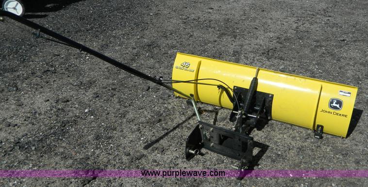 john deere snow plow manual