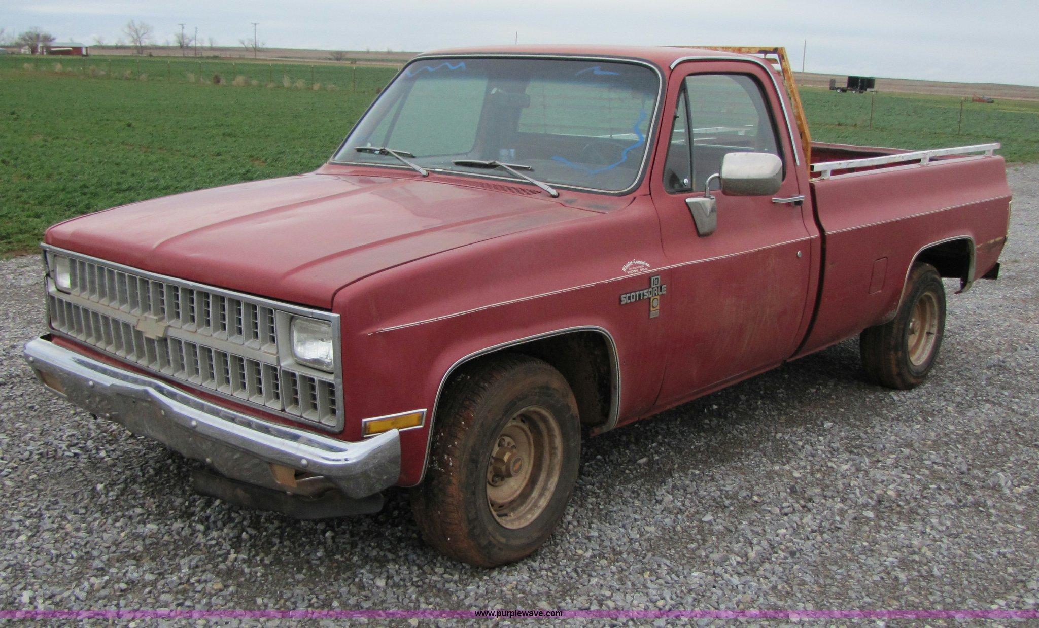 1982 Chevrolet Scottsdale C10 Pickup Truck Item B2260 So