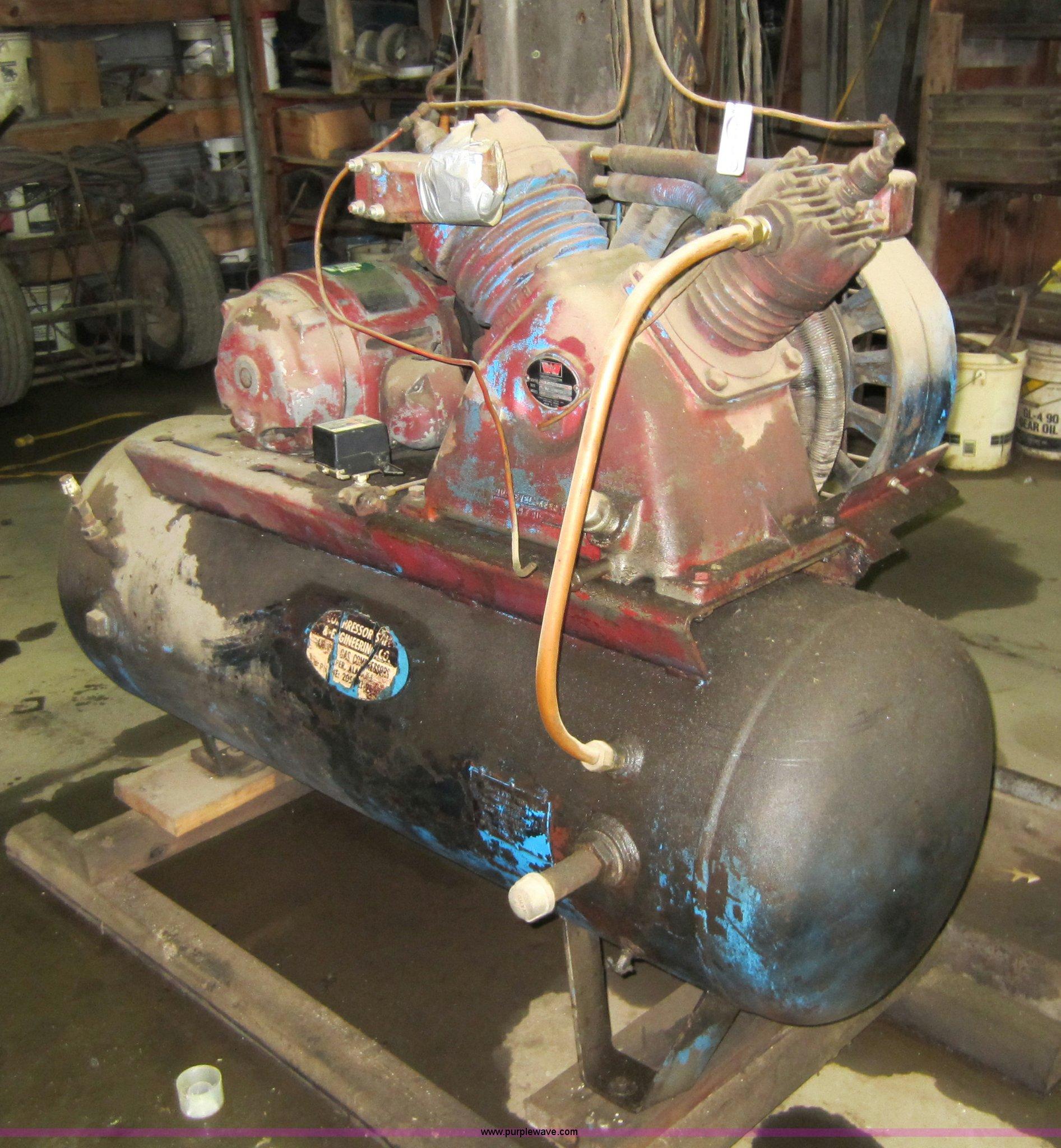 worthington air compressor item v9013 sold april 4 midw rh purplewave com Worthington Compressor V2a4-3 Worthington Compressor V2a4-3