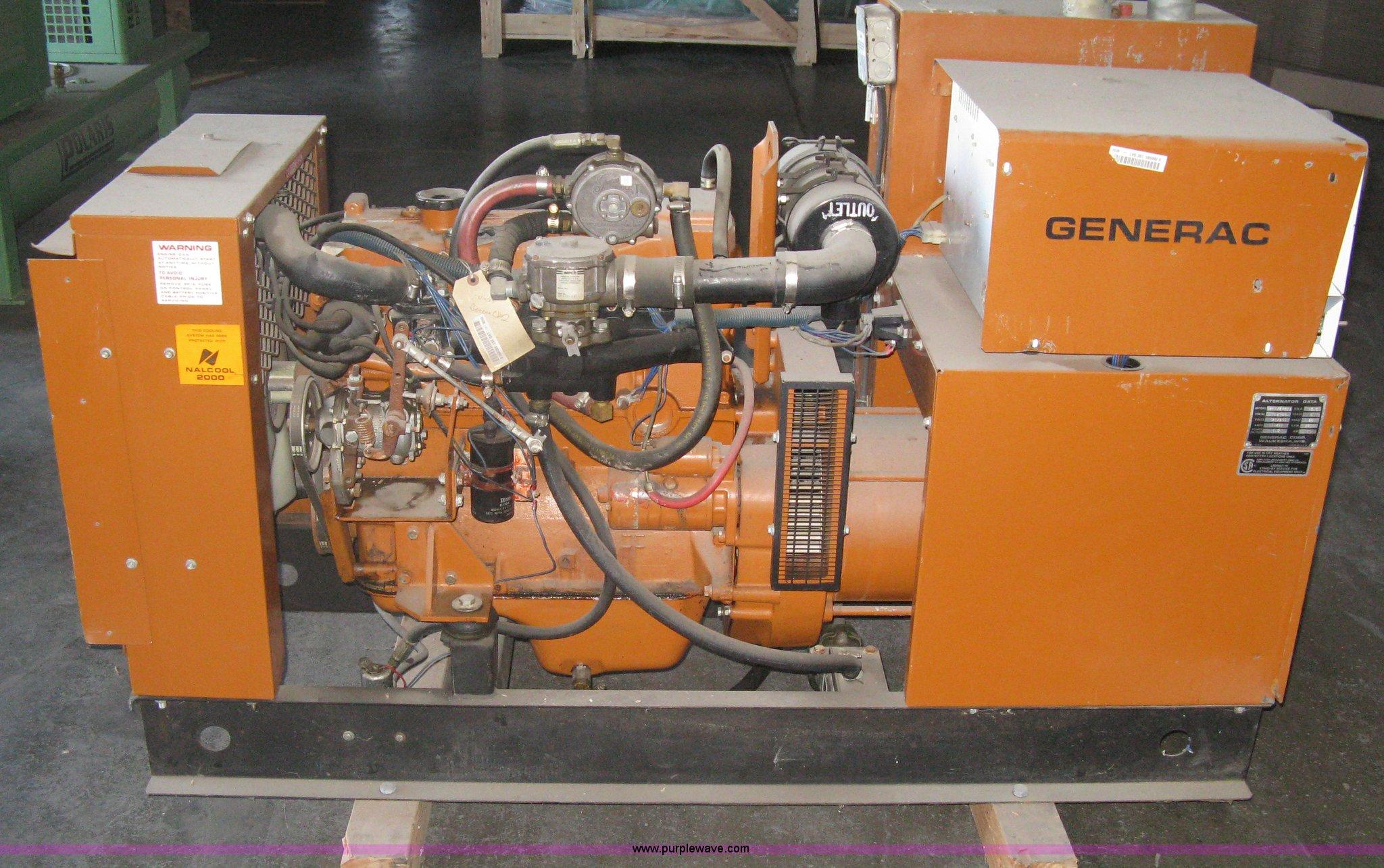 Generac gas powered generator Item G9756