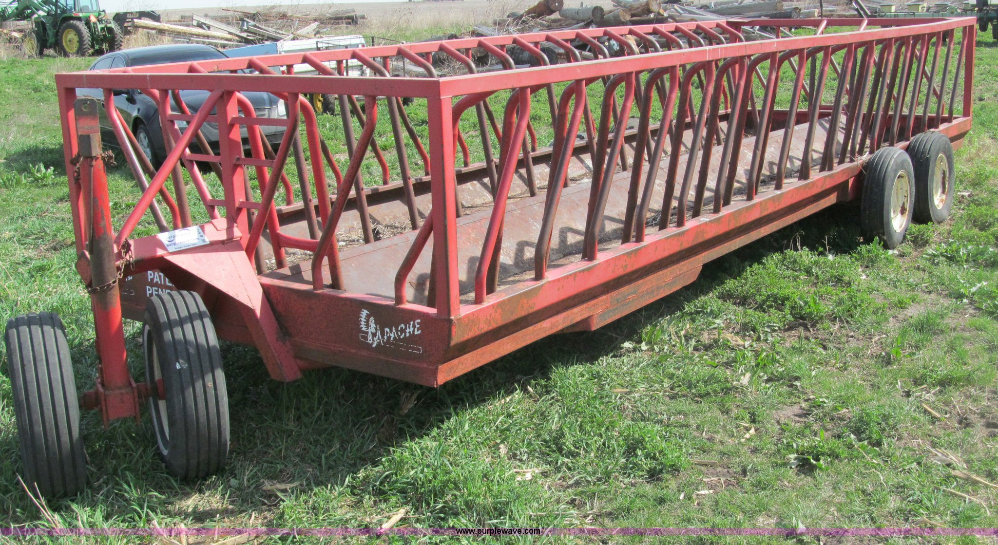 arrow front with insert feeder steel metals wagon hay si low feeders and