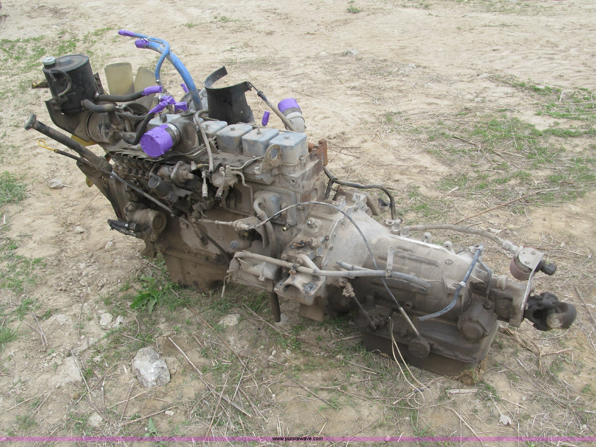 1993 Cummins 5 9l Diesel Engine With Allison Transmission In Ashland Ne Item G9482 Sold Purple Wave