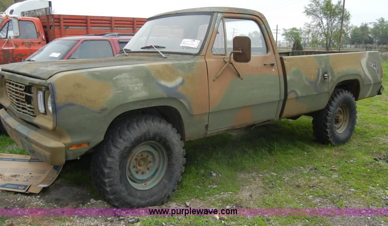 1976 Dodge M880 pickup truck | Item C4286 | SOLD! May 2 Midw... on
