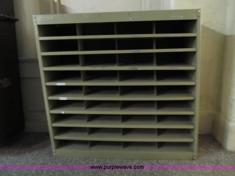 slotted letter sorting cabinet item b1226 sold may 8 go