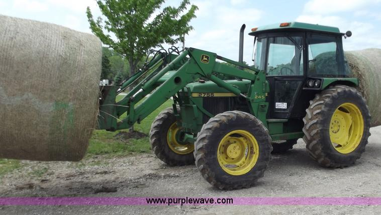 1991 John Deere 2755 Mfwd Tractor With Loader