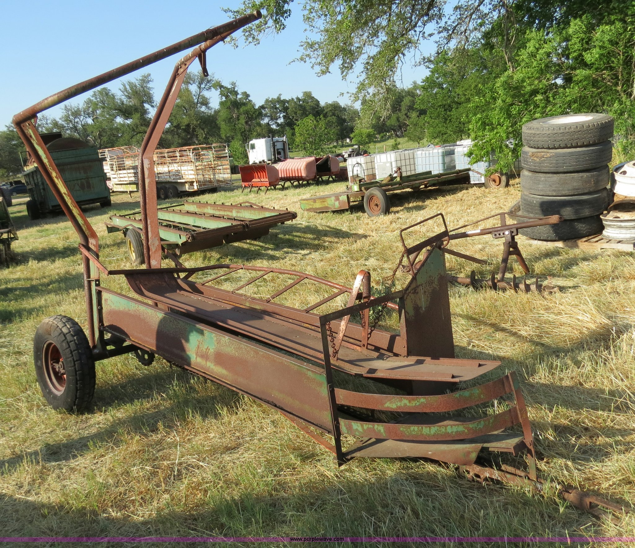 Hay Tractor With Loader : Pop up small square bale loader item c sold may