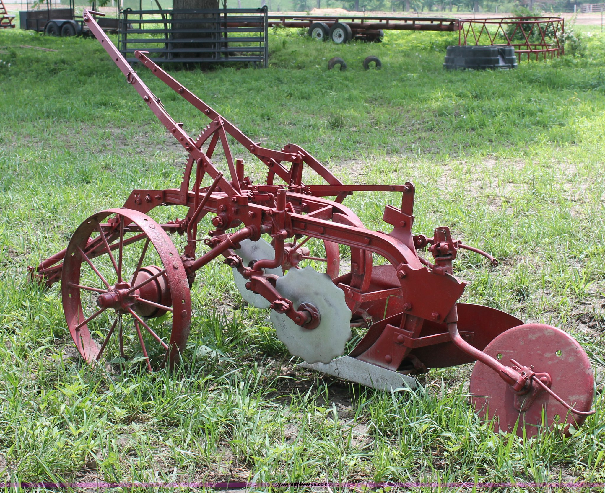 Antique Two Bottom Plow Item O9304 Sold May 30 Ag Equip