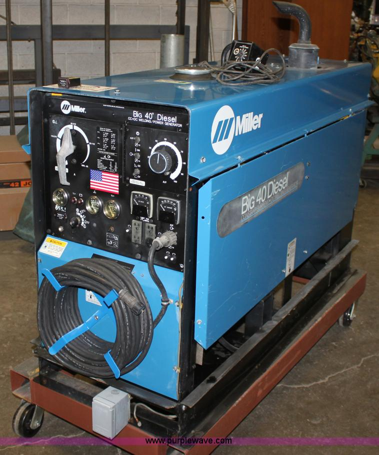 Miller Welders For Sale >> Miller Big 40 Diesel Constant Current Dc Welder Generator