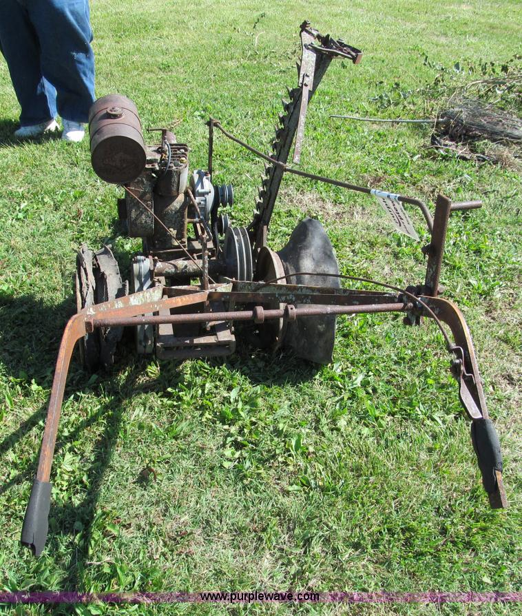 Antique walk behind gas powered sickle mower | Item C2175 |